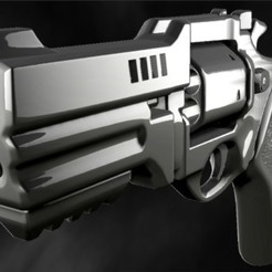 rewvolq222.jpg Download STL file Modern revolver fortnite • 3D printing object, EdmarMart3D
