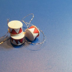Descargar archivos STL gratis Tambores de Navidad en miniatura, drnbabyz
