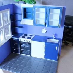 IMG_7800.JPG Télécharger fichier STL FDM 3D Printed Room Kitchen 1:12 • Design pour imprimante 3D, drnbabyz