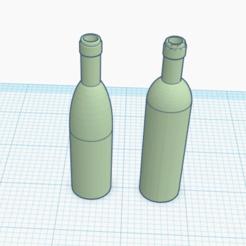 Télécharger fichier STL 1:12 Bouteilles de vin • Objet pour impression 3D, drnbabyz