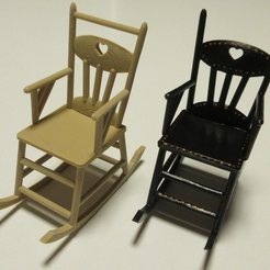 Free 3D printer model Rocking chair 1:12, drnbabyz