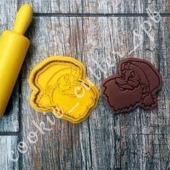Вырубка со штампом Дед Мороз.jpg Download STL file Cookie cutter santa • Model to 3D print, Natali