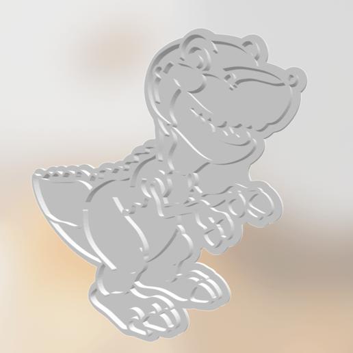 3D-printersjablonen downloaden Dino Cookie Cutter, Natali