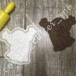 Download STL file Cookie cutter ghost Halloween • 3D printing object, Natali