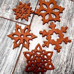 a-0H_K1RRVI.jpg Télécharger fichier STL Flocon de neige en forme de coupe-cookie • Plan imprimable en 3D, Natali
