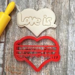 3D print model Cookie cutter Love is..., Natali