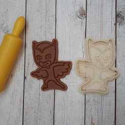 Download 3D printing files Cookie cutter PJ Masks Owlette, Natali