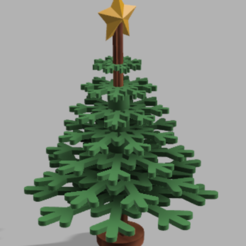 Xmas tree_01.PNG Download STL file Christmas tree 3D puzzle • 3D printer template, antboneva