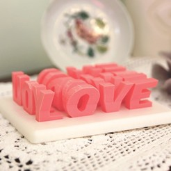 Download free STL file LOVE YOU GAME • Design to 3D print, CKLab