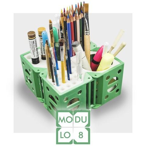 Modèle 3D MODULO 8 - organiseur de bureau modulaire, CKLab