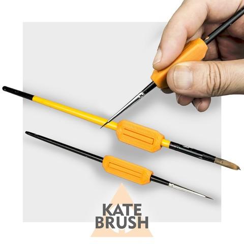 Free 3D printer model Kate Brush | ergonomic handles for brushes, CKLab