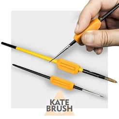 cover.jpg Download free STL file Kate Brush | ergonomic handles for brushes • 3D print template, CKLab