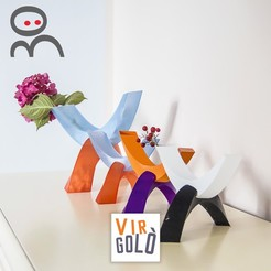 Download 3D printing designs Virgolò - minimalistic vase, CKLab