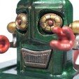 Free 3D print files alfred the smiling vintage robot, CKLab