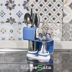 logomp.jpg Download STL file Malposata - cutlery drainer • 3D printable design, CKLab
