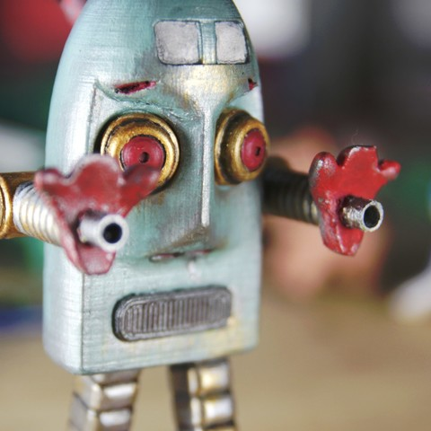 Free 3D printer files Robert the angry vintage robot, CKLab
