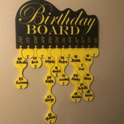 Descargar Modelos 3D para imprimir gratis Tabla de cumpleaños - Ganador del concurso de Prusa, franciscoczapski