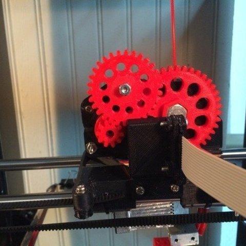 Download free 3D printer templates triple gear Extruder with NEMA 14 (V2.0), franciscoczapski