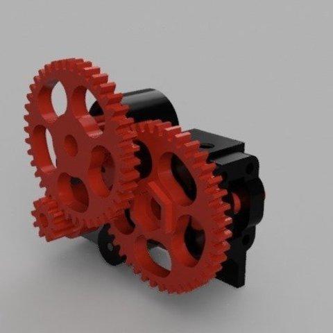 Descargar Modelos 3D para imprimir gratis Extrusora Bowden de triple engranaje NEMA14, franciscoczapski
