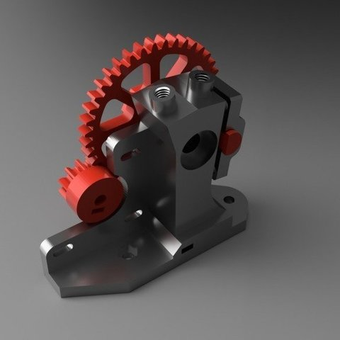 Free 3D print files Hybrid Dual Color Single Hot End Extruder, franciscoczapski
