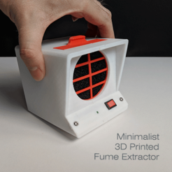 Download free 3D printing designs Minimalist 3D Printed Fume Extractor, rdmmkr