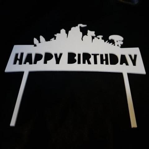 Download free 3D printer files Happy Birthday Fortnite cake topper, Magnus_Jewel