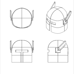 Download free 3D printer templates 3D Printable Helmet, Logtrimmer
