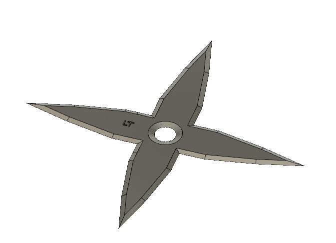 Screen Shot 2019-03-14 at 10.39.08 AM.png Download free STL file Shuriken • 3D printer model, Logtrimmer