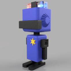 Download 3D printer files police robot , DinuSuciu