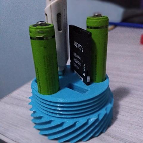 Telecharger Fichier Stl Aaa Support De Pile Modele A Imprimer En 3d Cults