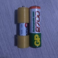 IMG_20200314_185221043.jpg Download free STL file battery adapter AAA to AA • 3D print model, DinuSuciu