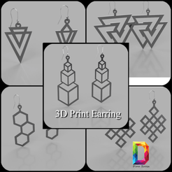 my_photo_collage-116 (1).png Download STL file geometric earring • 3D print object, DinuSuciu