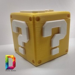 Download free 3D printer model Question box Super Mario, DinuSuciu