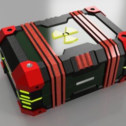 Download 3D printer model scifi crate, chest, DinuSuciu