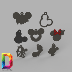 Download STL mickey mouse earring set, DinuSuciu