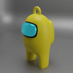 AMONG US KEY R7.png Download OBJ file among us key ring 3D • 3D print template, DinuSuciu