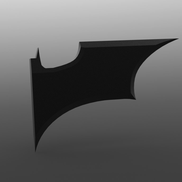 4.JPG Download STL file Half BATMAN Batarang Mirror Accessory • 3D printing object, IceKiwi