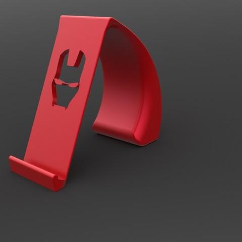 IronManStandFront.jpg Download STL file Ironman Phone Holder • 3D print model, IceKiwi