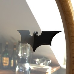 3D print model Half BATMAN Batarang Mirror Accessory, IceKiwi