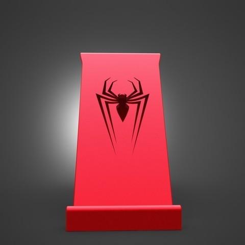 2.JPG Download STL file SPIDERMAN Phone Holder • 3D printer template, IceKiwi