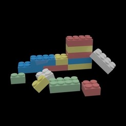 Download 3D printing designs Lego Pieces 3in1, IceKiwi