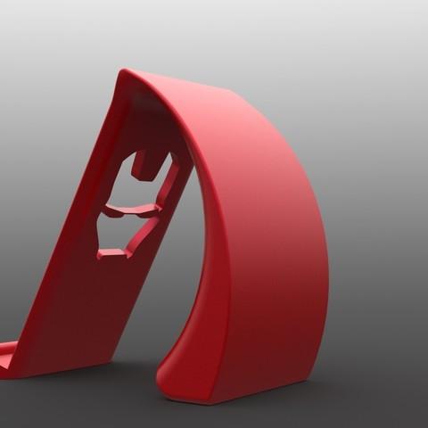 IronManStandBack.jpg Download STL file Ironman Phone Holder • 3D print model, IceKiwi
