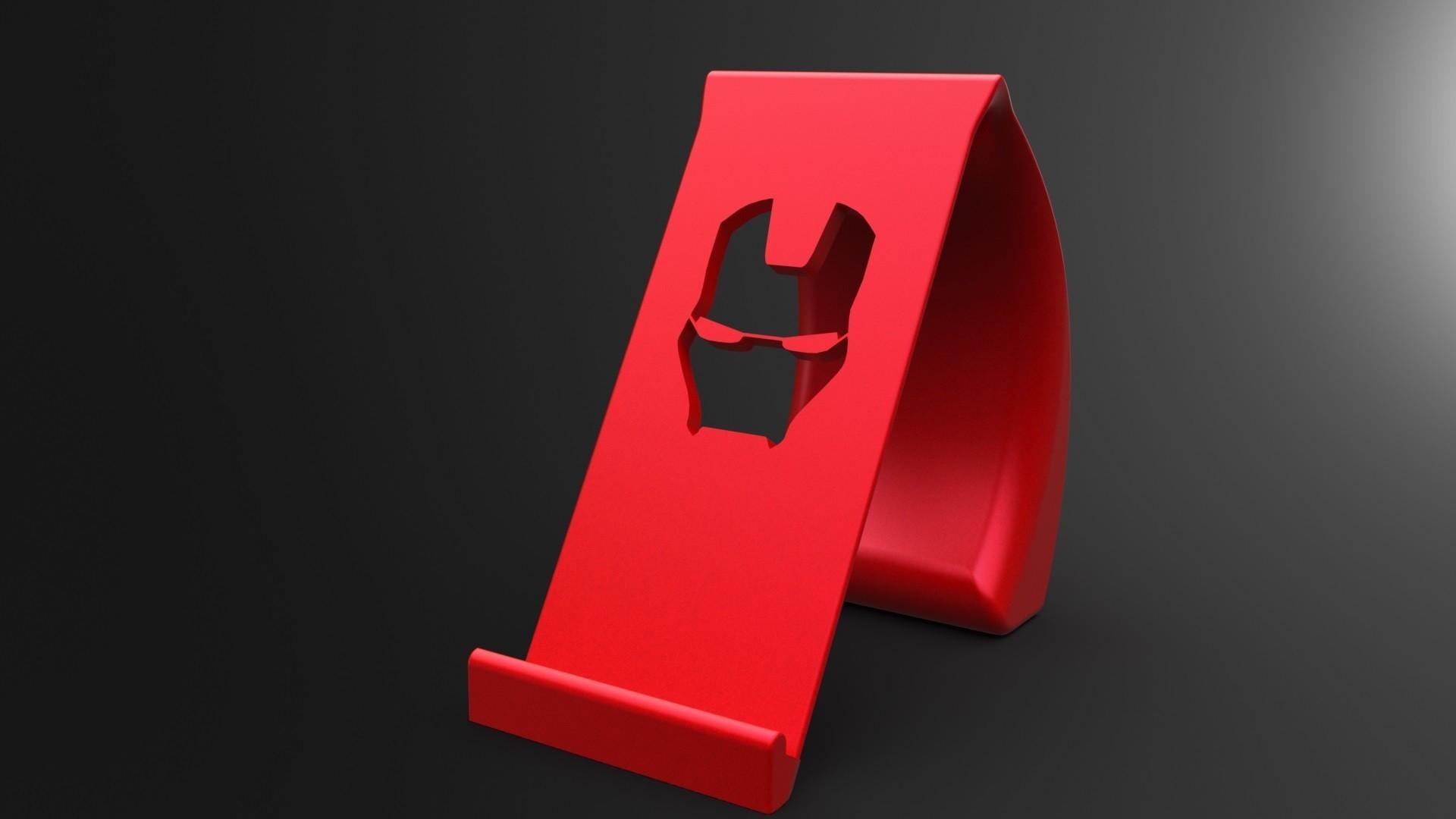 ironman2.jpg Download STL file Ironman Phone Holder • 3D print model, IceKiwi