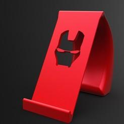 Impresiones 3D Soporte para teléfono Ironman, IceKiwi