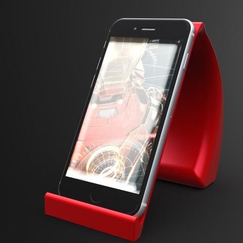 İronman1.jpg Download STL file Ironman Phone Holder • 3D print model, IceKiwi