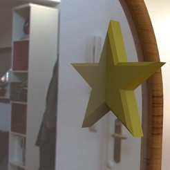 Download 3D printing templates Half Star Mirror Accessory, IceKiwi