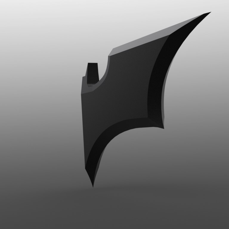 5.JPG Download STL file Half BATMAN Batarang Mirror Accessory • 3D printing object, IceKiwi