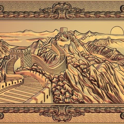 333.jpg Télécharger fichier STL gratuit Superbe machine à router cnc murale chinoise avec cadre d'art • Plan à imprimer en 3D, CNC_file_and_3D_Printing