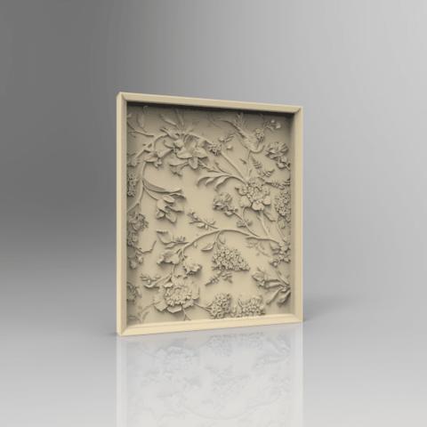Imprimir en 3D gratis flores hojas cnc router cnc marco de la máquina, CNC_file_and_3D_Printing