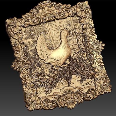 Descargar modelos 3D gratis cnc marco faisán caza de aves, CNC_file_and_3D_Printing